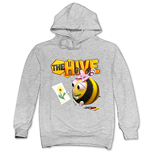 [XJBD Men's The Hive Unique Hoodie Ash Size L] (Invisible Man Costume 2016)