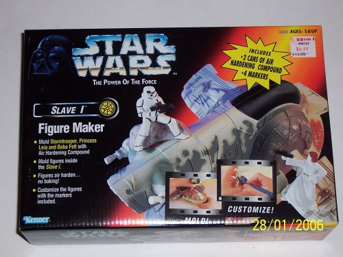 (1997 - Kenner - Star Wars POF Slave 1 Figure Maker - Princess Leia / Boba Fett / Stormtrooper Molds - Sealed - Collectible)
