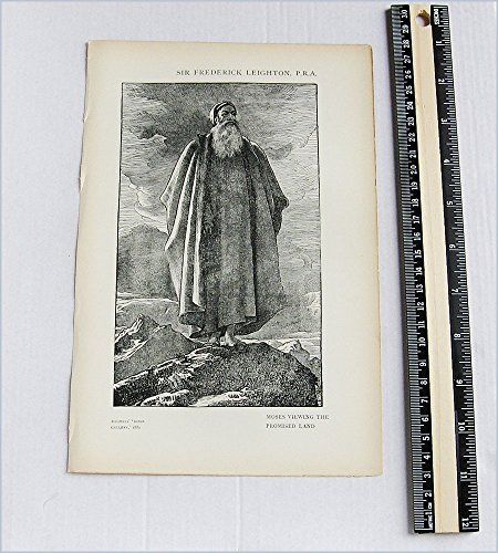 Lord Leighton - Antique Print - Moses views the Promised Land