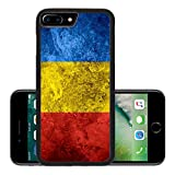 Luxlady Premium Apple iPhone 7 Plus Aluminum Backplate Bumper Snap Case IMAGE ID 31117084 flag of Romania or Romanian banner on vintage metal texture