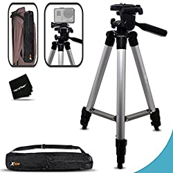 Xtech Durable Pro Series 60 Inch Tripod For Gopro Hero4 Session, Hero4 Hero 4, Gopro Hero3+, Gopro Hero3 Hero 3, Gopro Hero2, Gopro Hd Motorsports Hero, Gopro Surf Hero, Gopro Hero Naked, Gopro Hero 960, Gopro Hero Hd 1080p, Gopro Hero2 Outdoor Edition Digital Cameras Plus Light-weight Convenient Backpack Style Carrying Case
