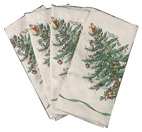 (Spode Christmas Tree-Green Trim Set of 4 20