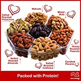 Food Gift Basket For Him & Her, Large Nut Gift Box, Gourmet 7 Sectional Healthy Edible Arrangement Snack, Present For Husband, Wife, Boyfriend, Girlfriend - Prime Delivery Under 30