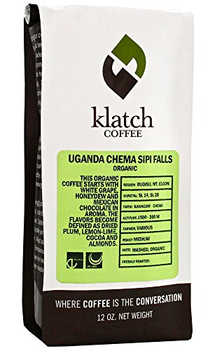 Klatch Coffee'FTO Uganda Chema Sipi Falls' Medium Roasted Fair Trade Organic Whole Bean Coffee - 2 Pound Bag