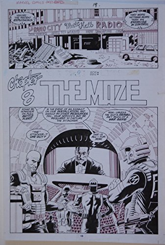 PAUL GULACY original art, MARVEL COMICS PRESENTS #33 pg 19, 11x16, Coldblood
