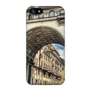 Iphone5 iphone 5s iphone 5 PC phone cover skin Hot Style Durability Apartment Building An Arch Hdr