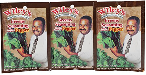 Wiley's Greens Seasoning With A Touch Of Pepper, 1.0 oz (Pack of 3) by Wiley's