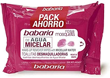 Babaria Babaria Toallitas Desmaq. Agu.Micelar 2X20 Ud Pack 40 ml ...