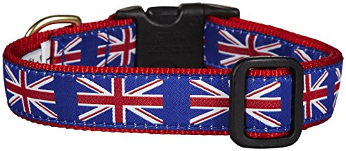 - Up Country Union Jack Dog Collar - Medium