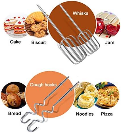 Sbattitore Elettrico 120W, 5 Velocità Controllo Frusta dal Design Compatto Utilizzato nei Ristoranti per Preparare Torte, Uova,Pasta, Biscotti,Marmellata,Burro,Ecc. (Bianca)