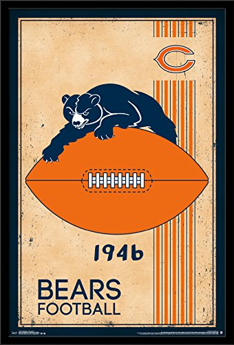 - Trends International Chicago Bears - Retro Logo Wall Poster, 24.25