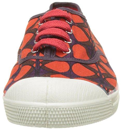 Bensimon Tennis Lacet Pois Retro - Botas Mujer Rouge (Rouge)