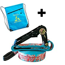 Slackline Kit Sunyata Classic 15m/49ft + Carry Bag | With GripCoat Webbing | 1 Year Warranty by Absolute Slacklines - Easy Set Up Online Tutorial | Great for Beginner and Intermediate users