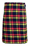 Buchanan Men's 5 Yard Scottish Kilts Tartan Kilt 13oz Highland Casual Kilt (44'')