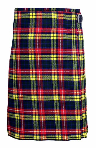 Buchanan Men's 5 Yard Scottish Kilts Tartan Kilt 13oz Highland Casual Kilt (44'') by SHYNE