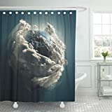 Best Planet Dog Dog Whistles - Emvency Shower Curtain Blue Atmosphere Earth Day Clouds Review