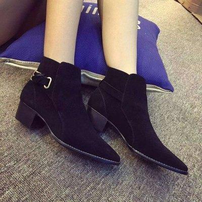 gras de cuir ronde dames transparente pour boucles avec pour avec de bottes couleur chevalier femmes chaussures tête Angrousobiu noir bottes ceinture en bottes w6xv7REXq