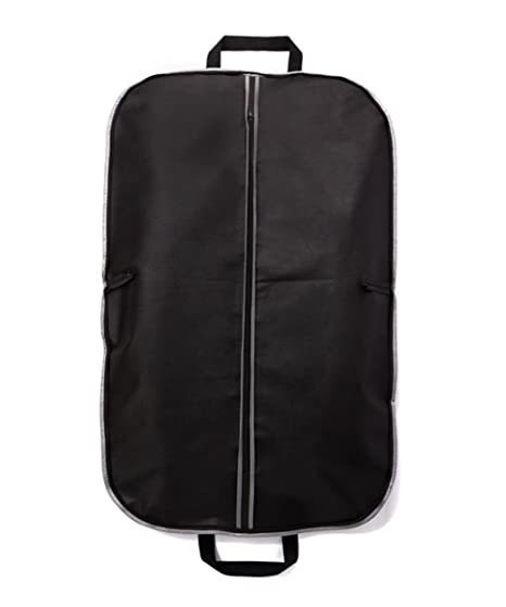 Fyore transpirable ropa bolsa de transporte para traje y Vestido Ropa impermeable doble plegable mango para viaje 120 * 60 cm, negro