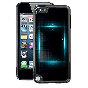 A-type Arte & diseño plástico duro Fundas Cover Cubre Hard Case Cover para Apple iPod Touch 5 (Blue Light Vibrant Black Night Square)