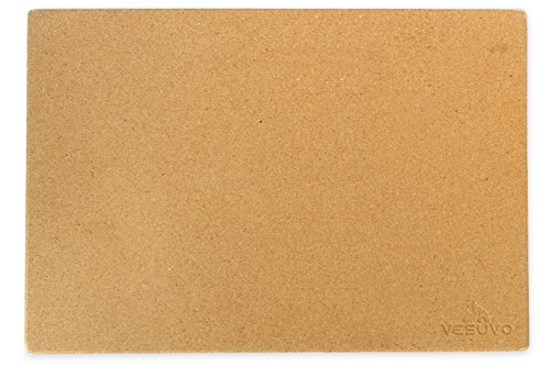 Vesuvo V45351 Pizzastein XXL für große Grills aus Cordierit bis 1000 Grad Celcius, 45 x 35 x 1,5 cm