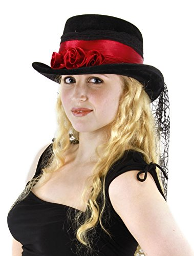 (Gothic Rose Top Hat for Adults and Women by elope )