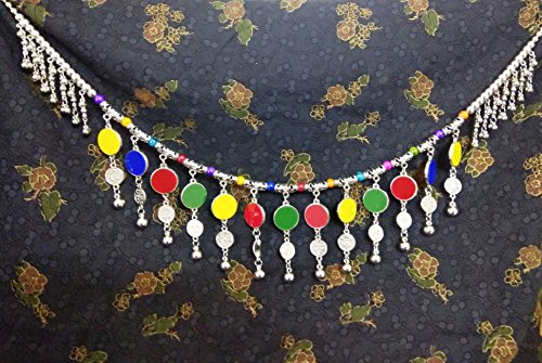IndianTradition Turkish Boho Antique Kuchi Tribal Coins Chain Belt Belly Dance Hip Scarf Skirt Jewelry (Turkish Hip Scarves)