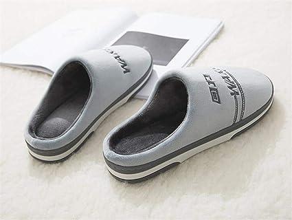 WERTY Uomini e Donne Alippers Coppia Pantofole di Cotone Scarpe Invernali  Maschili Home Scarpe Interne Spesse e Calde 4c3178f9aba
