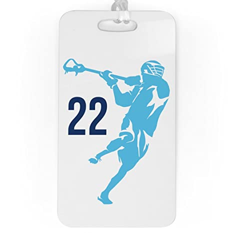 b4bf26a660a2 Amazon.com | Guys Lacrosse Luggage & Bag Tag | Personalized Lax Jump ...