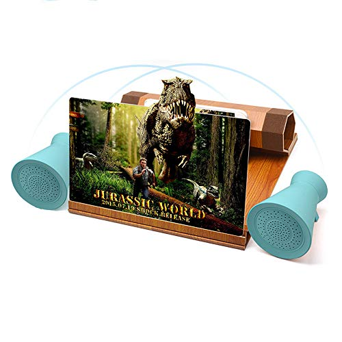 Mobile Phone Screen Magnifier, 3D Mobile Phone Amplifier, 12-Inch Fresnel Thread Lens, Lazy Collapsible Solid Wood Bracket, 4.2tws Bluetooth Speaker Package