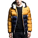 Susanny Men's Winter Thicken Cotton Coat Casual Fur Hooded Qulited Jacket Parkas XL Apricot