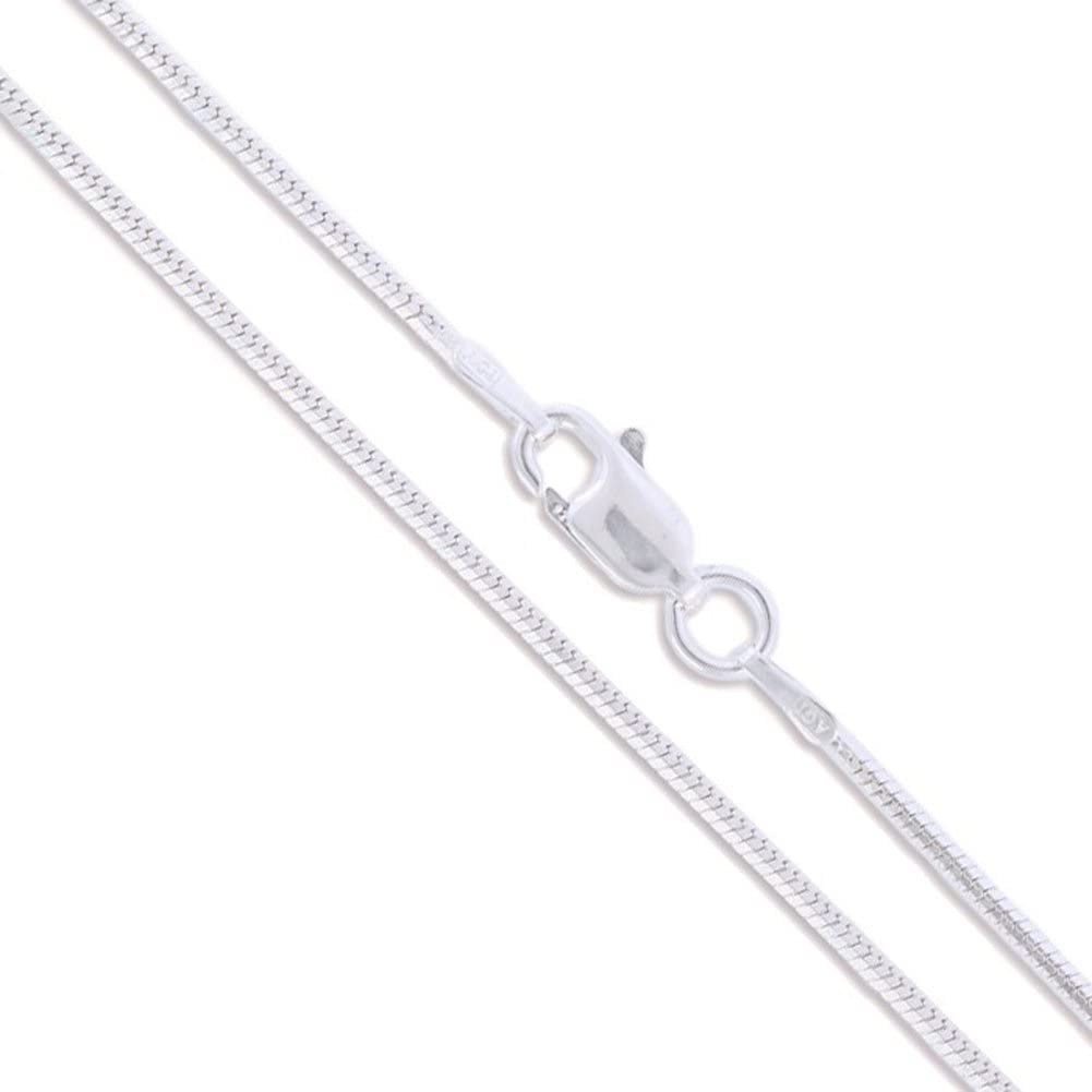 Made in Italy Pori Jewelers 925 Sterling Silver .7MM Magic 8 Sided Italian Snake Chain for Women