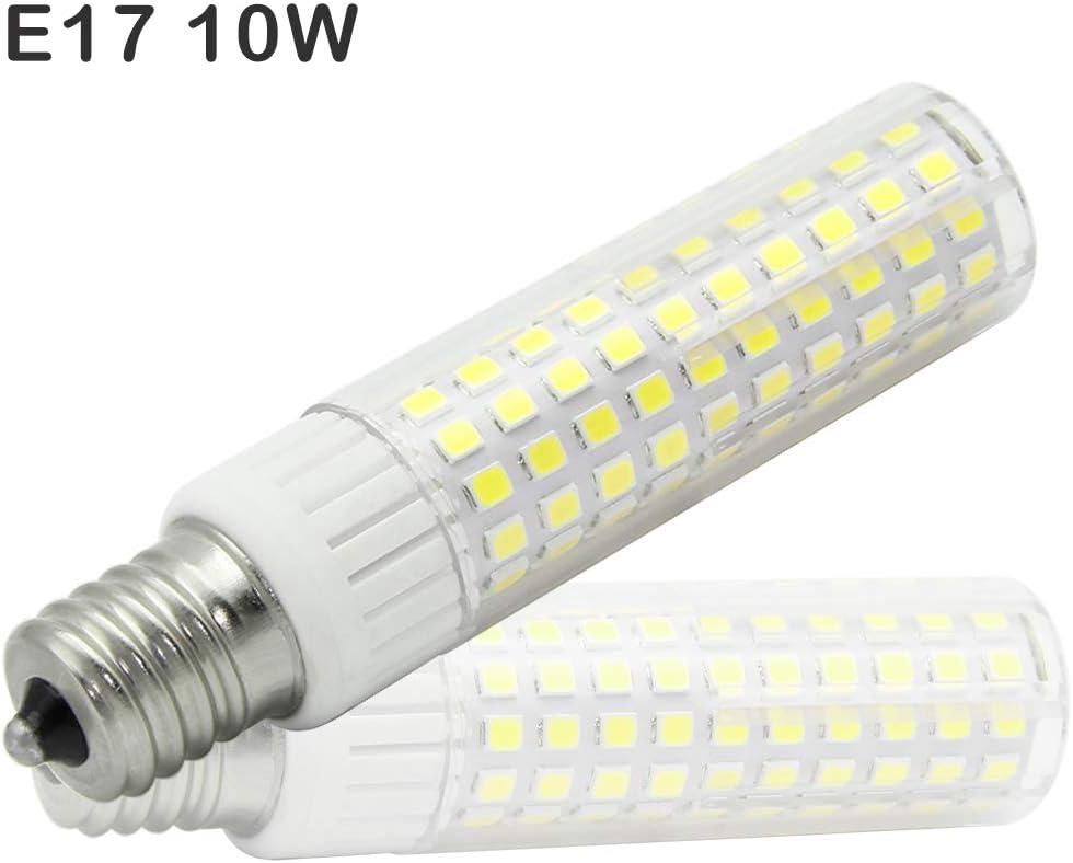 E17 LED Light Bulb 10W=120W E11 Halogen Bulbs, Dimmable, 1200Lumen, 90-265V AC, 360 Degree Angle, CRI> 90Ra, Cool White 6000K (Pack of 1)