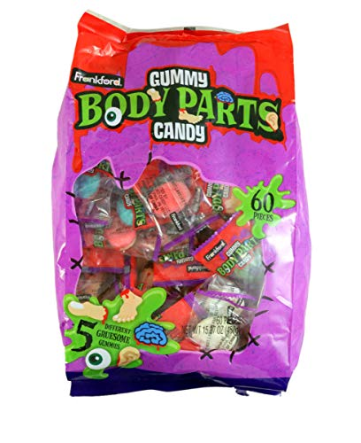 Gummy Body Parts Halloween Candy (Halloween Assorted Gruesome Gummy Body Parts Candy, 15.87 oz)