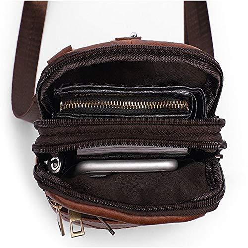 4d7fd04f756e Coffee Men's Genuine Leather Retro Fashion Multifunctional Male Male ...