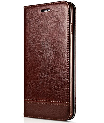 Galaxy Note 8 Case, Galaxy Note 8 Flip Case, Crosspace Galaxy Note 8 Wallet Case [Ultra Slim] PU Leather Magnetic Folio Book Stand Protective Cover with Card Slots for Samsung Galaxy Note 8 Coffee