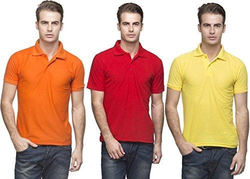 ceb162d9a0e05 Image Unavailable. Image not available for. Colour: Kalpit Men's Comfort  Soft Premium Cotton Plain Polo Collar Half Sleeve T-Shirt ...