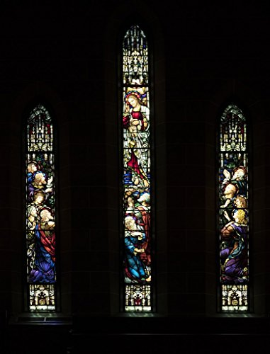 (Photograph  Stained glass window inside Christ Episcopal Church in Raleigh, North Carolina, one of the first Gothic Reivival churches in the American South 5 Fine Art Photo Reproduction 32in x 44in)