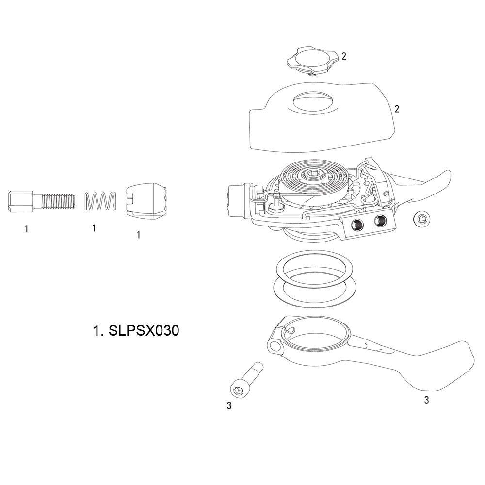 SRAM STELLSCHRAUBEN KIT X0 TRIGGER Trigger Adjuster Barrels