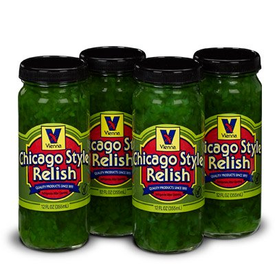 Cucumber Relish (Vienna Chicago Style Relish 12oz (4 Pack))
