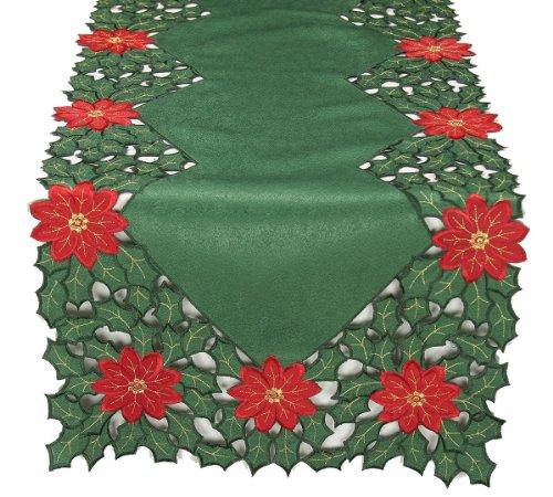 Xia Home Fashions Poinsettia Embroidered