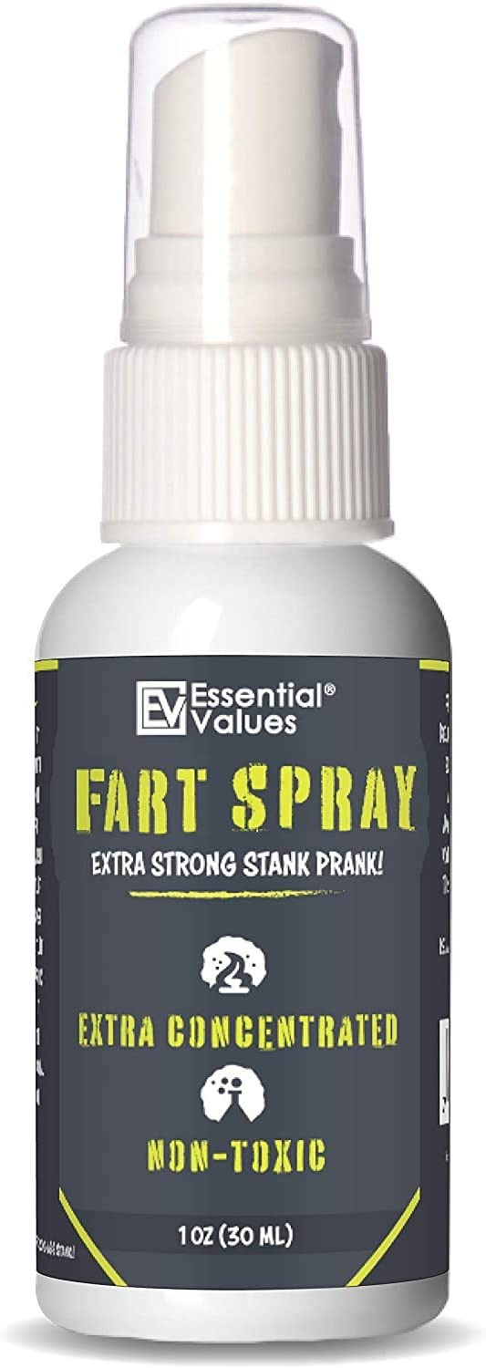 Essential Values Prank Spray Extra Strong ( 1 fl oz) - Non-Toxic Extra Concentrated Formula - Perfect Gag Gift for All | Prank Friends, Family, & Others if You Dare