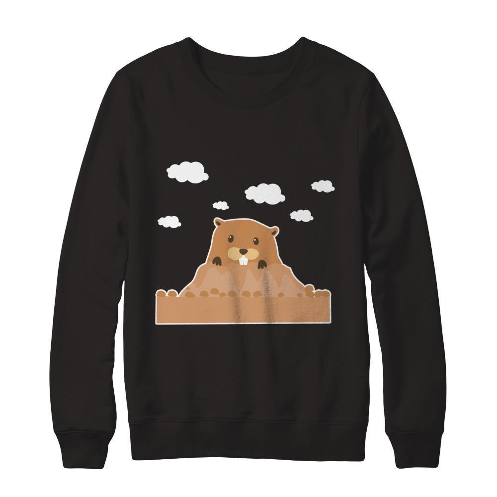 Teely Shop Mens Happy Groundhog Day Funny Cute Kids February Gildan Pullover Sweatshirt