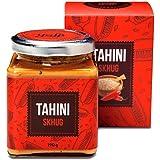 Yoffi Tahini Paste with Skhug 100% Stone Ground Based Sesame Kosher Pareve Vegan-Friendly (6.7 Oz)