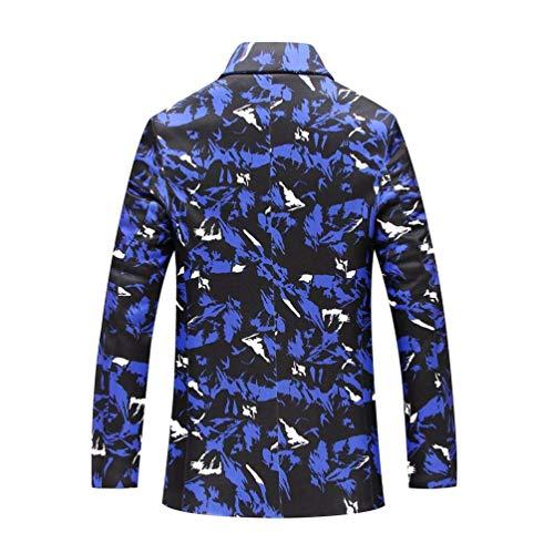 Oudan Xx colore Fit Dimensione Bianca Slim large Blu Giacche Casual Da Blazer Uomo rSrOxqv