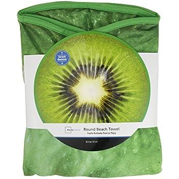Wal-Mart Mainstays Round Beach Towel Kiwi Fruit 58