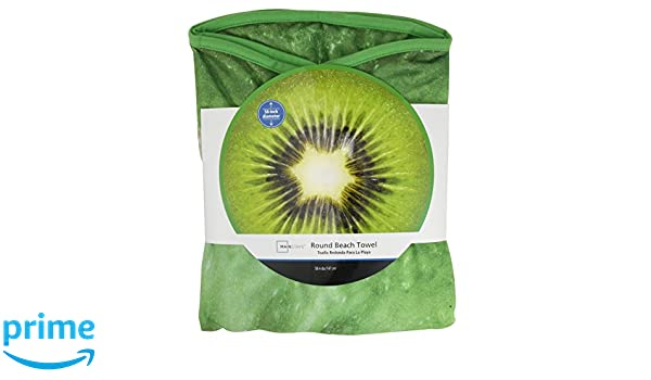 Amazon.com: Wal-Mart Mainstays Round Beach Towel Kiwi Fruit 58