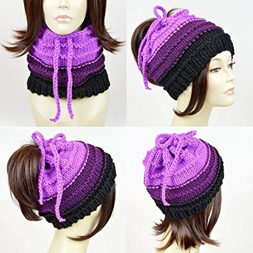 Little Mermaid Ursula Ponytail Hat Scarf Knit Disney Hat Ursula Beanie Octopus Hat Disney Beanie Octopus Beanie Tentacle Beanie Tentacle Hat Knitted Hat Womens Hat Ponytail Beanie Bonnet Femme]()