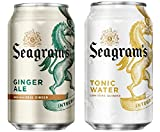 Seagram's Party Mixer Bundle of Twelve 12 Ounce Cans: 6 cans of Tonic Water and 6 Cans of Ginger Ale