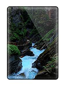 Defender Case For Ipad Air, Stream Earth Nature Stream Pattern