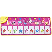 Prettyia Funny Baby Kids Toy Touch Keyboard Musical Carpet Mat Singing Animal Piano - #1